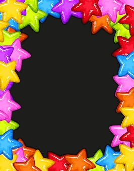 A colourful star border