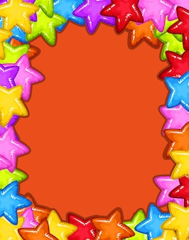 A colourful star card template