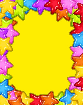 A colourful star frame