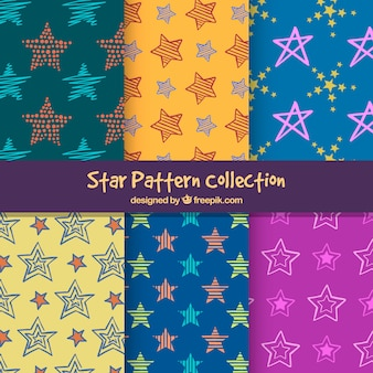 Colourful star pattern collection