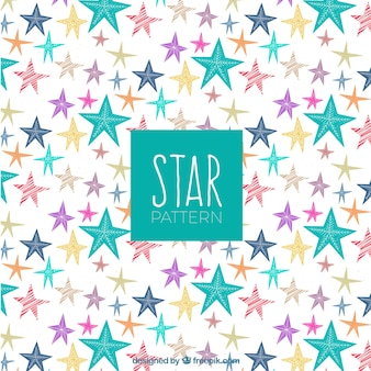 Colourful star pattern