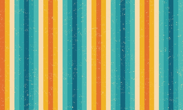 Colourful stripes grunge retro pattern design.