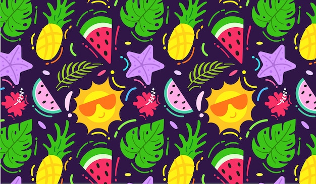 Colourful summer pattern