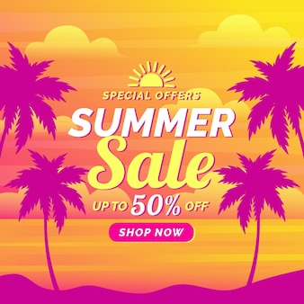 Colourful summer sale