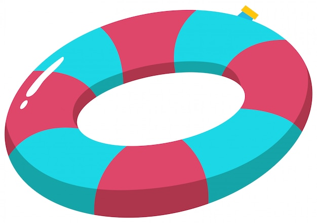 Colourful swim ring on white background