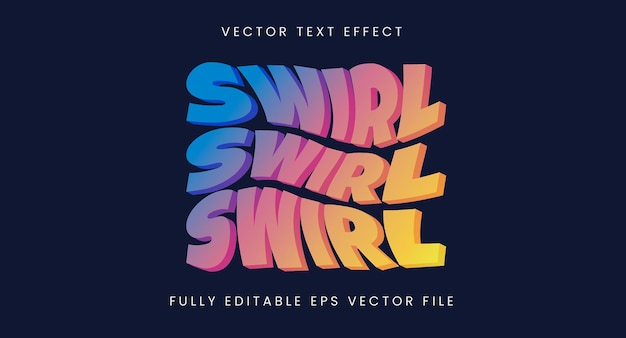 Colourful swirl text effect