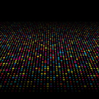 Colourful techno dots background