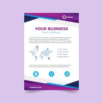 Красочный шаблон для бизнес-флаера