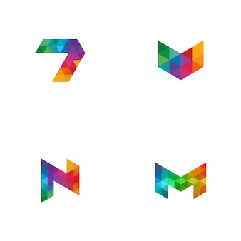 Colourful title logo
