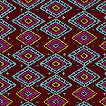 Colourful traditional songket pattern