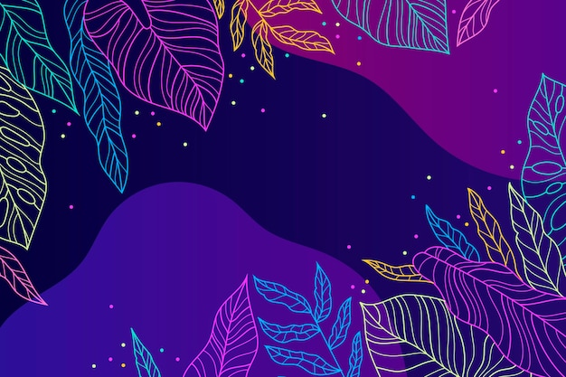 Colourful tropical wallpaper with empty space