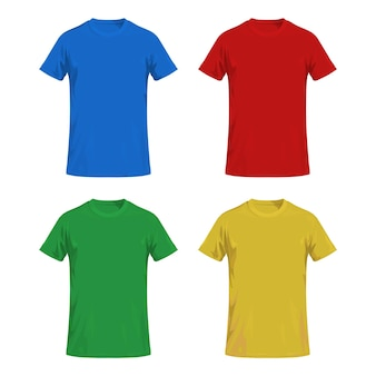 다채로운 티셔츠 개념 절연