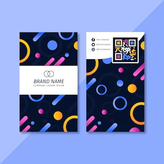 Colourful vertical business card template