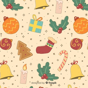Colourful vintage christmas pattern