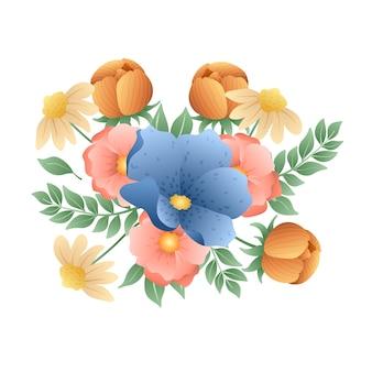 Colourful vintage floral bouquet
