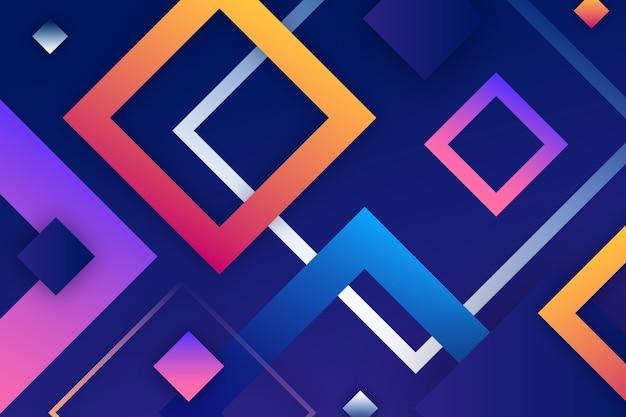 幾何学的な形のカラフルな壁紙