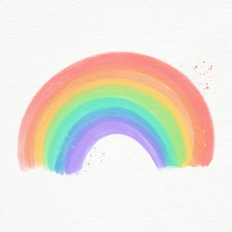Colourful watercolor rainbow illustrated