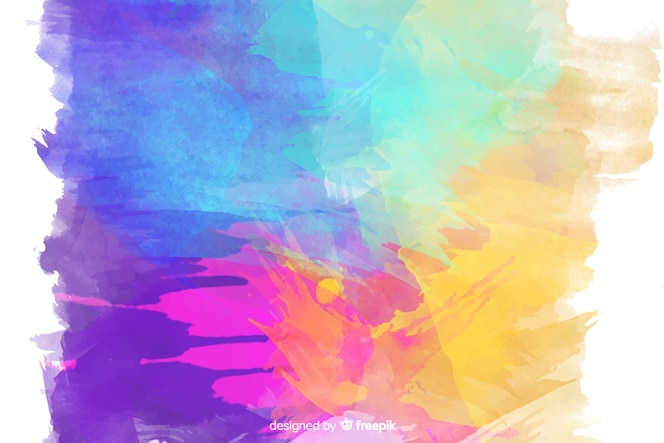 Colourful watercolor stains background