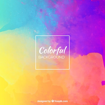 Colourful watercolour background Free Vector