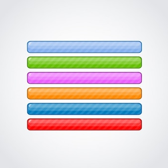 Colourful web buttons pack