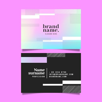 Colourful with black and white business cards