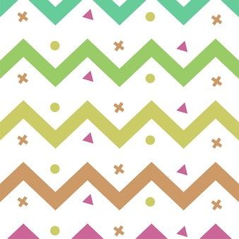 Colourful zig-zag lines color pattern