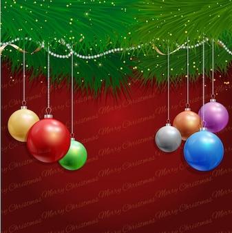 Colours balls christmas background