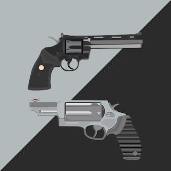 Colt python gun vector illustration