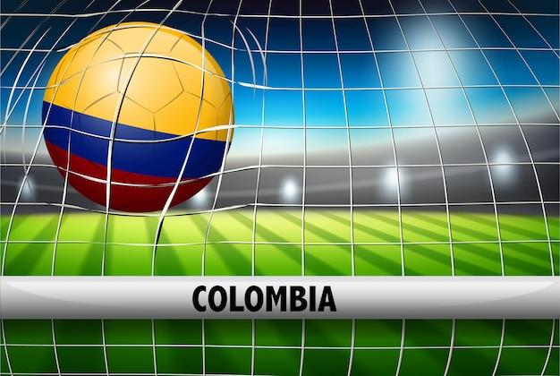 Columbia soccer ball flag