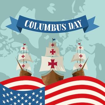 Columbus day card