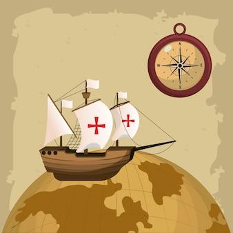 Columbus day concept