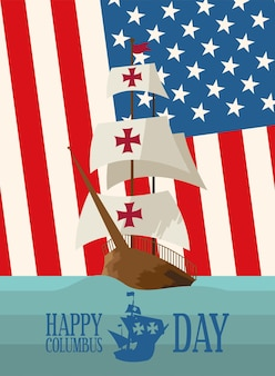 Columbus day poster