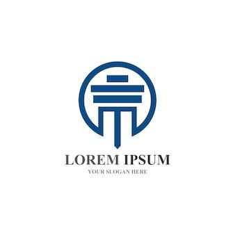 Столбец логотип и векторный шаблон символа