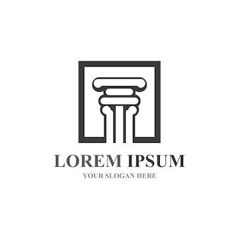 Column logo and symbol vector template