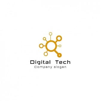 デジタルのcomanyロゴテンプレート