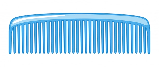 A comb isolated