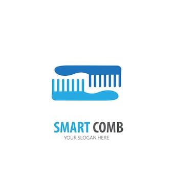 Comb logo for business company. simple comb logotype idea design. corporate identity concept. creative comb icon from accessories collection.