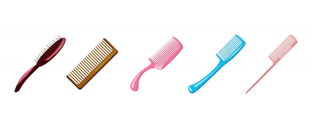Comb set. cartoon set of comb
