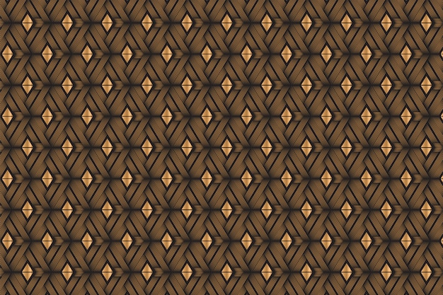 Combination of diagonal curve line and triangle shape  pattern with gold gradient and black colors.