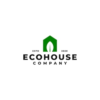 Combination of house and leaf. home logo. good for any business related to house and nature.