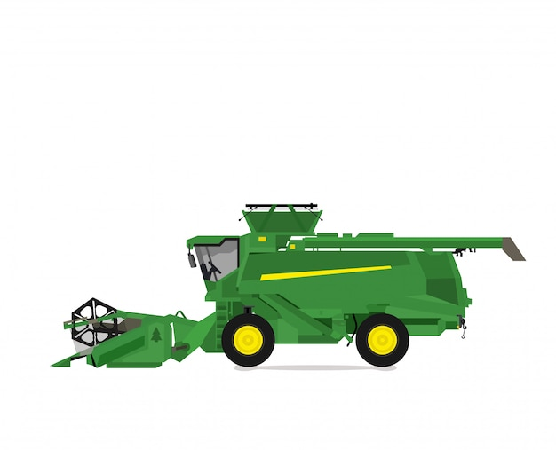 Combine harvester vector design isolated