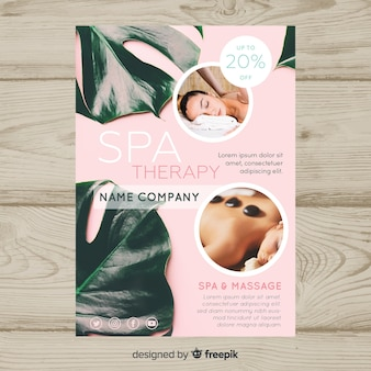 Combined spa flyer template