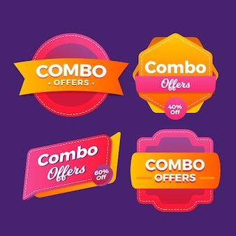 Combo meals labels collection