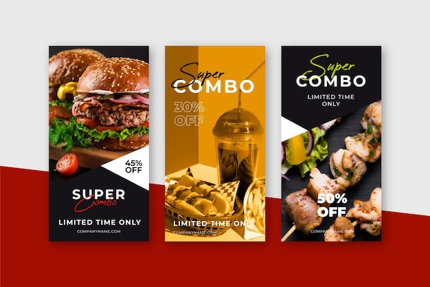 Combo meals offer banners
