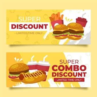 Combo meals offer horizontal banners