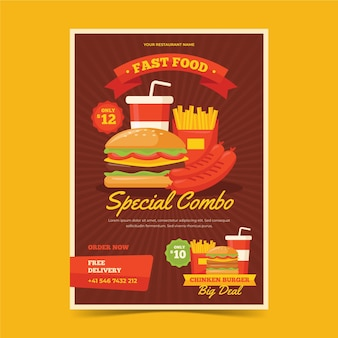 Combo meals poster concept