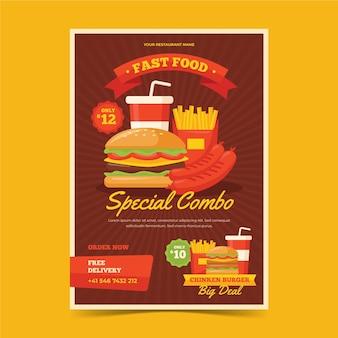 Concetto di poster di pasti combinati