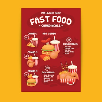 Combo meals poster template