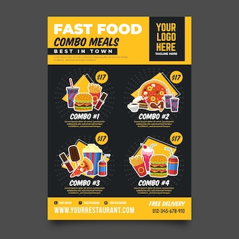 Combo meals - poster template