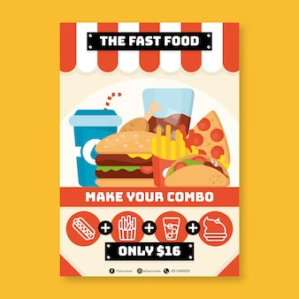 Combo meals poster